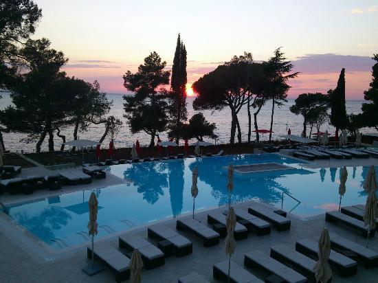 Hotel Laguna Parentium: Sonnenuntergang von der Terrasse