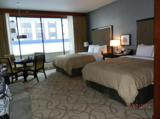 Inn at the WAC: The bedroom and sitting area,