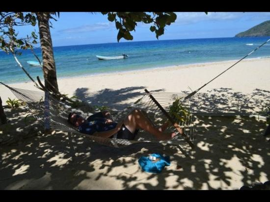 Wayalailai Ecohaven Resort: Chilling in one of the many hammocks