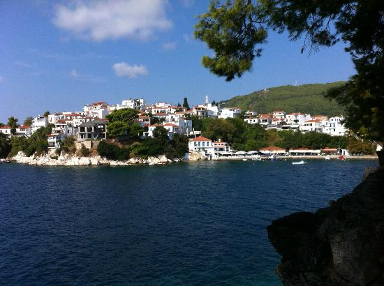 Marialena Village Apartments: Skiathos Town from Water Taxi