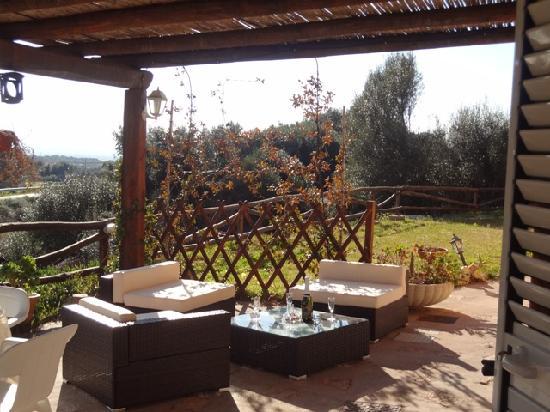Villa Agnese : terrazzo colazione