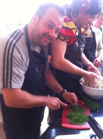 LucyCooks Cookery School: nice chopping skills