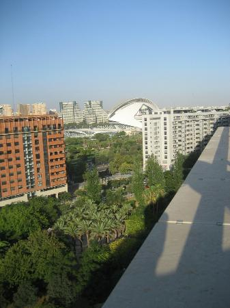 Tryp Valencia Oceanic Hotel: View from our terrace