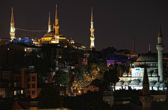 Ottoman Hotel Park: View from the Hotel Rooftop of the Blue Mosque