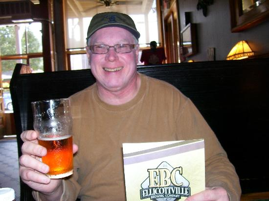 Ellicottville Brewing Company: Mike enjoying his beer!