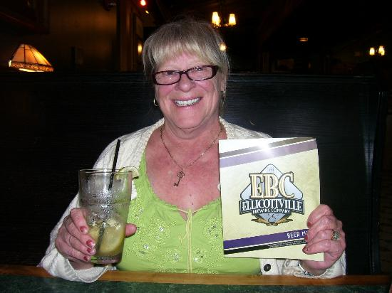 Ellicottville Brewing Company: Me enjoying my Long Island Iced Tea