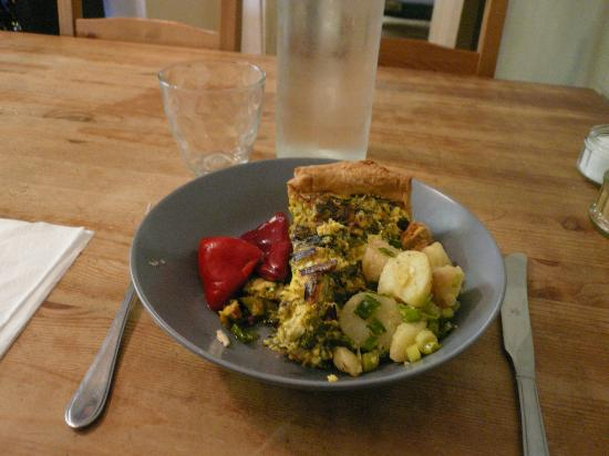 The Salt Pig: Quiche with potato salad and hot peppers (there is a choice of two salads)