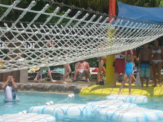 Blizzard Beach: This looks easy but the bigger you are the harder it is!