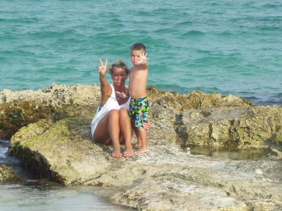 Iberostar Paraiso Lindo: My precious gem and me sitting on a rock great for pictures