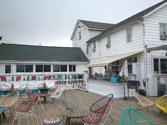 The Surf Lodge: The deck.