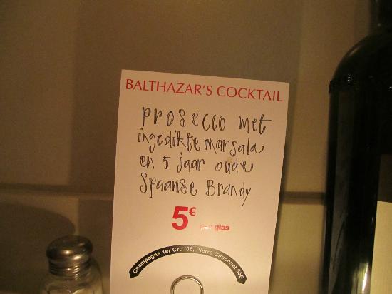 Balthazar's Keuken: the after dinner coctail
