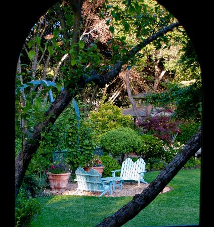 The Madrones: Cottage view of grounds