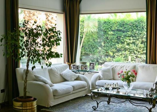 Villa Victoria: salotto con vista in giardino