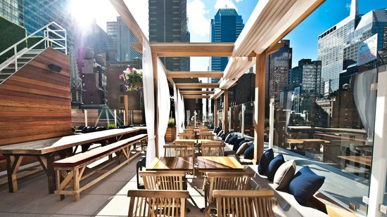 Haven rooftop nyc new york city midtown restaurant for Hippest hotels in nyc