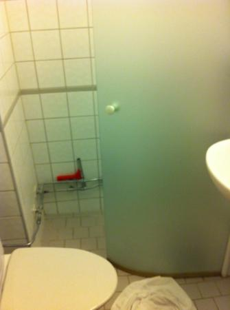 First Hotel Linne: Very small bathroom
