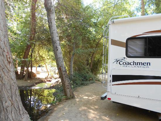 Camp James Campground: Small River behind our site