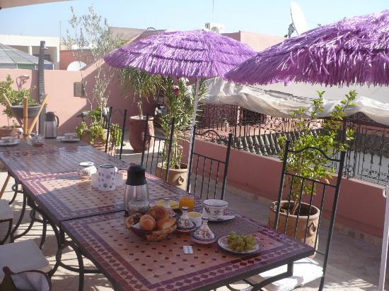 Riad Charme d'Orient: La terrasse