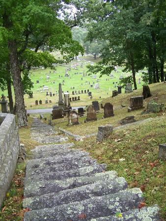 Mount Hope Garden Cemetery: Collines, passerelles