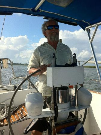 Compass Sailing, LLC: Captain Steve on the Zingara
