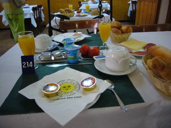 Mar Blau Tossa Hotel: nuestro desayuno! y es un 1* !