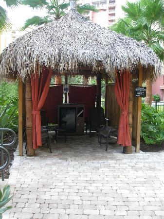 Wyndham Bonnet Creek Resort: Se pueden reservar cabañas en la piscina para mayor privacidad y comodidad, con mini bar y cable