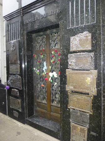 BuenosTours: We were surprised at how many people didn't know where the Evita Peron tomb was in Recoleta Ceme