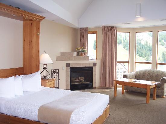 Winter Park Mountain Lodge: Hospitality Suite with Queen Murphy bed, kitchenette, fireplace, and 180 degree views