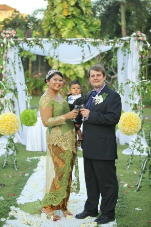 White Rose Kuta Resort, Villas & Spa: Bride&Groom&Our Best Little Man