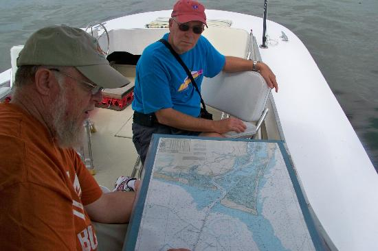 Solomon T Harbor Tours: Captain Bert explains how boats navigate safely.