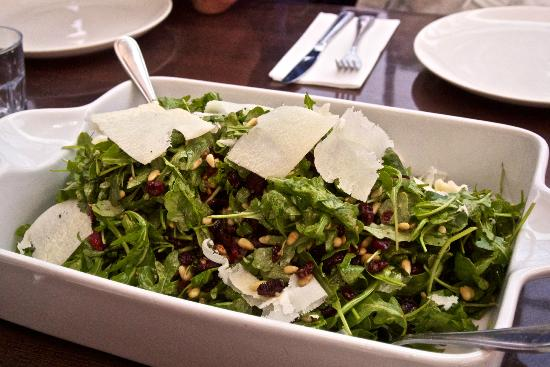 Foodies on Foot: Fresh and tasty salad with shaved parmesan cheese
