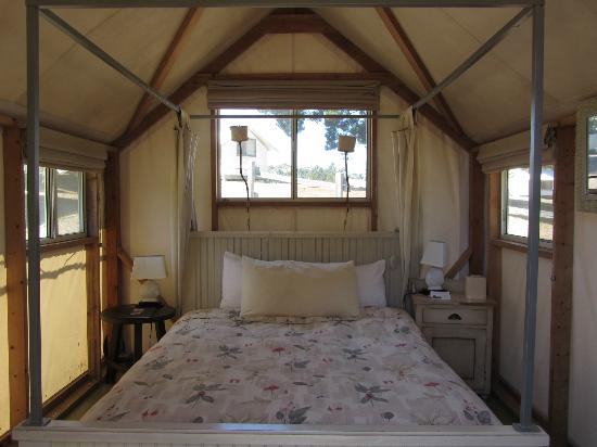 Costanoa Coastal Lodge u0026 C& Inside the Cypress tent cabin. & Inside the Cypress tent cabin. - Picture of Costanoa Coastal Lodge ...
