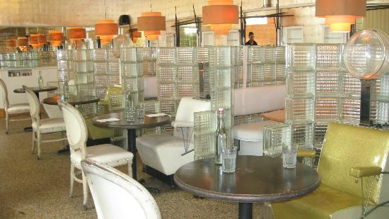 The Beauty Shop Restaurant: tables made from the original salon seats