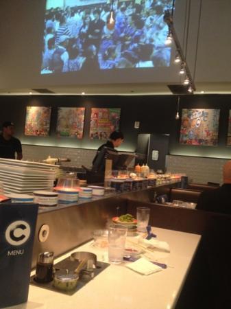 Blue C Sushi: rotator sushi bar
