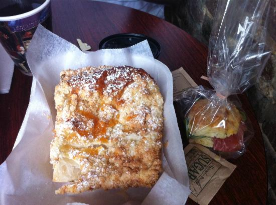 Whisk Coffee and Juice Bar: Light, delicious pastry and see the biscuit with country ham? It is so rich, so only eat one!