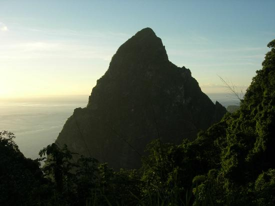 Fond Doux Plantation & Resort: On-site Petit Piton view