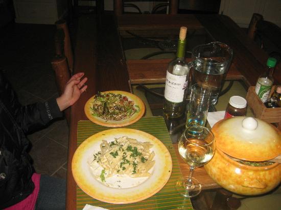 Refugio Romano: Platillos italianos que degustamos.