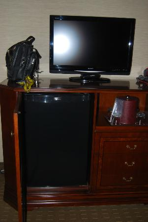 Festival Inn: Super convenient fridge, modern tv!
