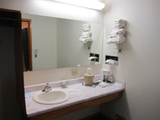 Dollar Inn Hot Springs: Wash basin