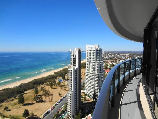 Peppers Broadbeach: View from Level 30 Balcony