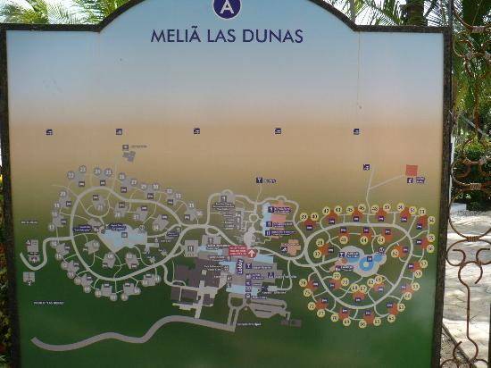 Carte Du Site Photo De Melia Las Dunas Cayo Santa Maria Tripadvisor