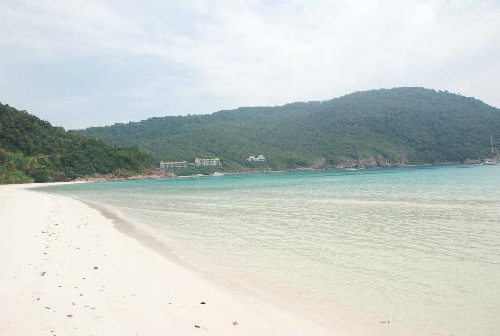 Coral Redang Island Resort: Secluded beach on jungle walk, overlooking Berjaya Resort