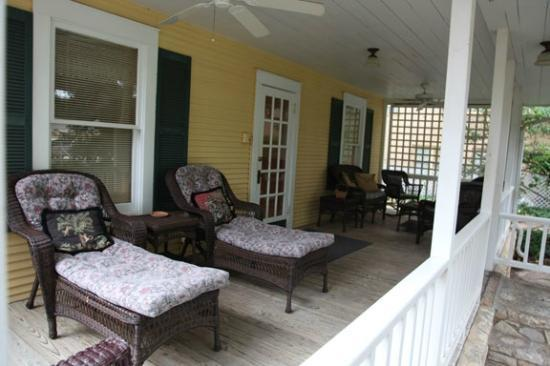 Inn on the River: Back Porch area