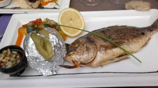 La Forge : grilled seabream/daurade