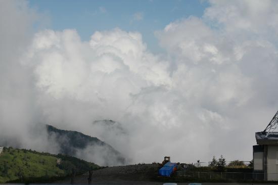 Ougatou Hotel: 雲が足下に見えます。