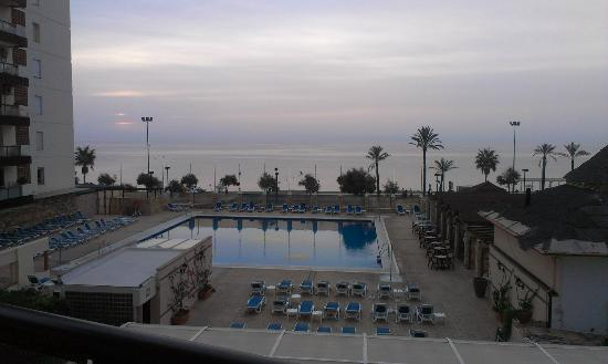 Hotel Las Piramides: view from the 1st floor room