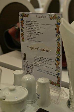 Calypso Suites Hotel: breakfast menu
