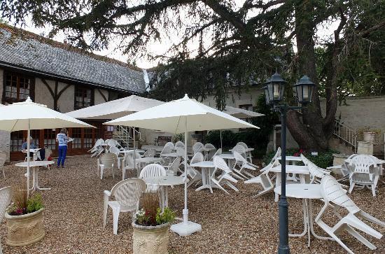 Logis Manoir de la Giraudiere: La terrasse de détente