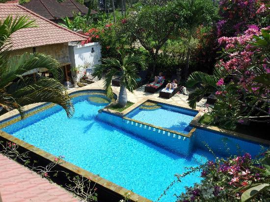 Villa Jaya: pool from first floor