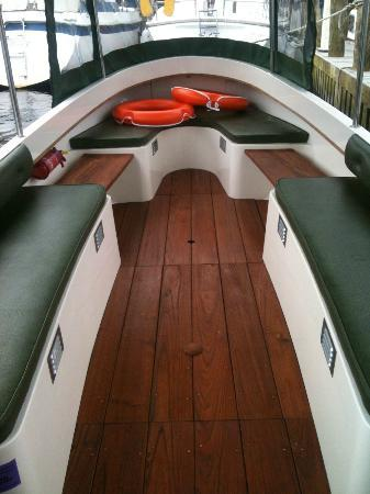 Bowness Bay Marina - Windermere Boat Hire: Inside the Duchess