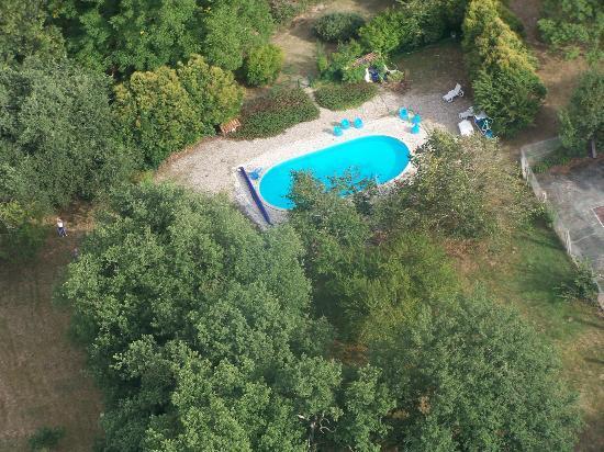 La Maison des Amis: Pool below (from local microlite)